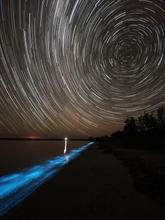 Bioluminescence Star Trail